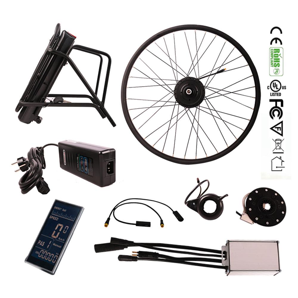 nokee lcd display 36v 250w hub motor kit with 10 4ah. Black Bedroom Furniture Sets. Home Design Ideas