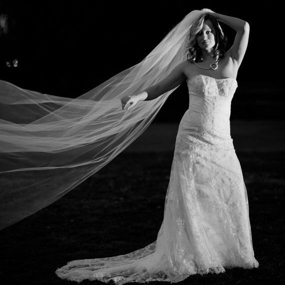 Bridal Veil Chapel Length Wedding 59 Wide 80 Long