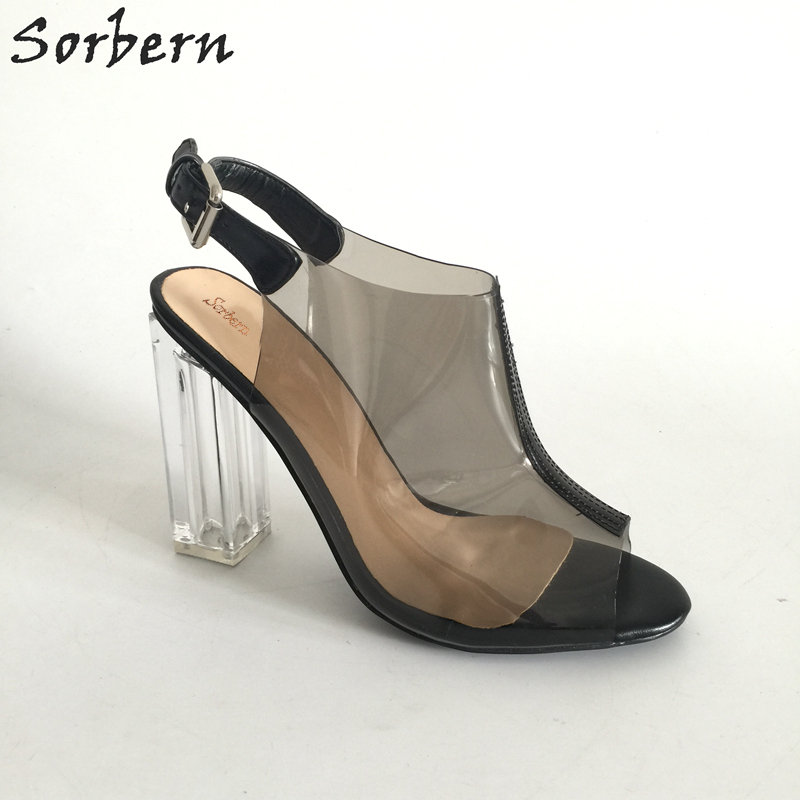Sexy Transparent PVC Women Shoes Peep Toe Slingbacks Pumps Clear Heels 1499265903147 4.JPG ca93e4b978fe