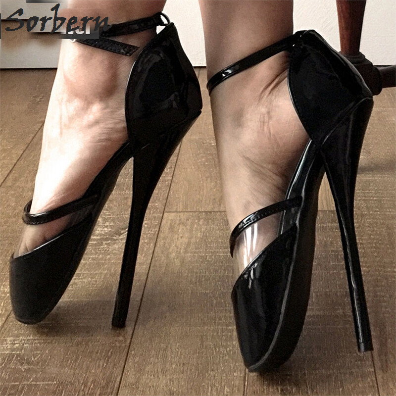Sexy Fetish Shoes Ballet Heel Shoes Women 18cm High Heels d9cf68c05f4f