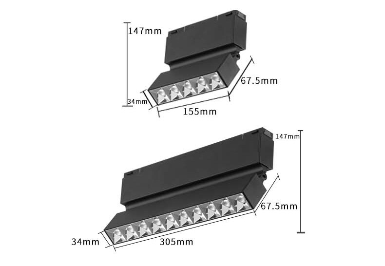 34 series-magnetic corner track light