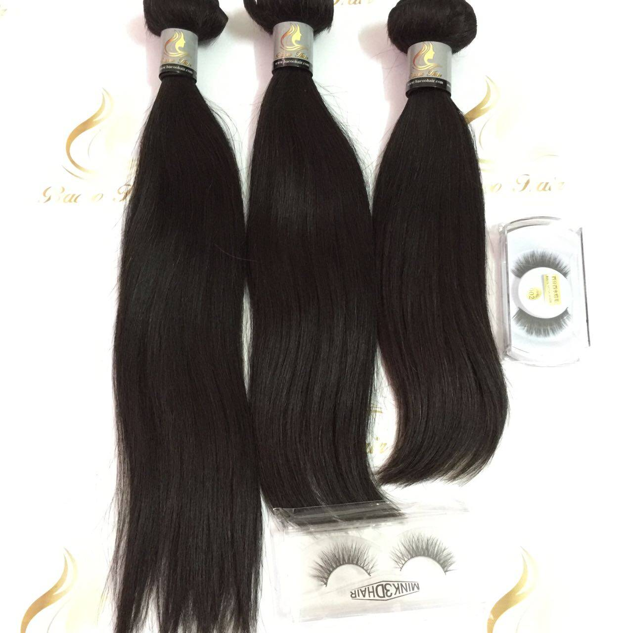 3pcs Different Inch With Lace Frontal Super Soft Straight Hair