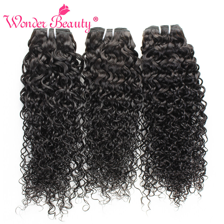 Malaysia Virgin Hair Kinky Curly Human Hair Weaves 3 Bundle Deals