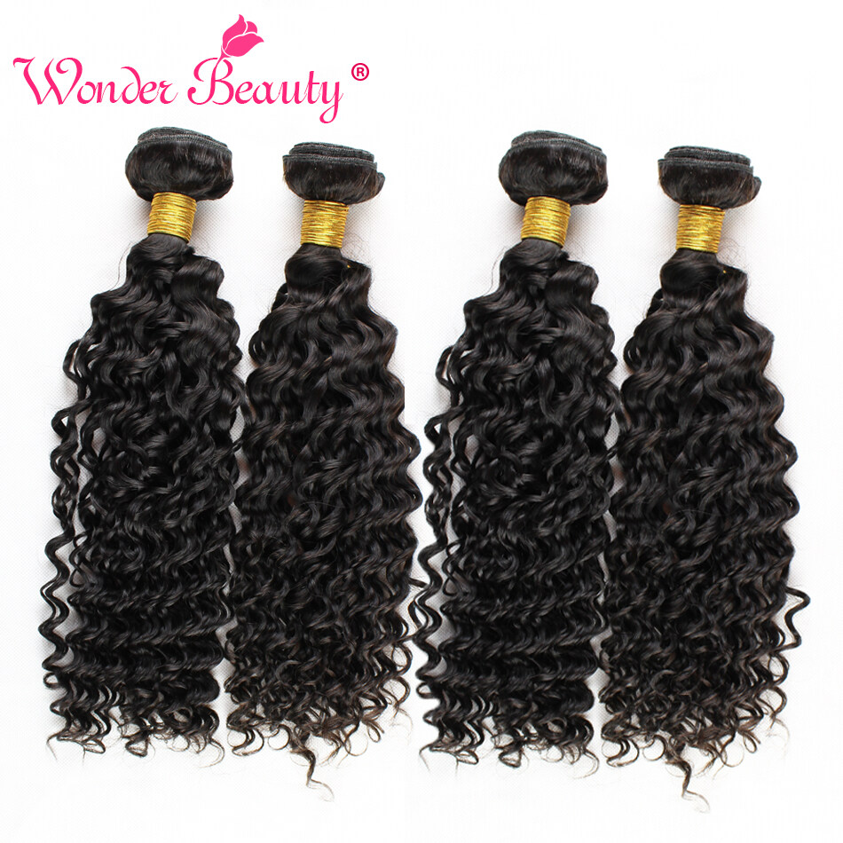 Peerless Indian Human Virgin Deep Curly Wavy Hair 4 Bundles Deal