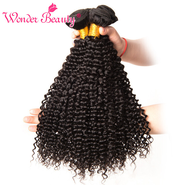 Hot Selling Afro Kinky Curly Weave Natural Black Hair Bundles