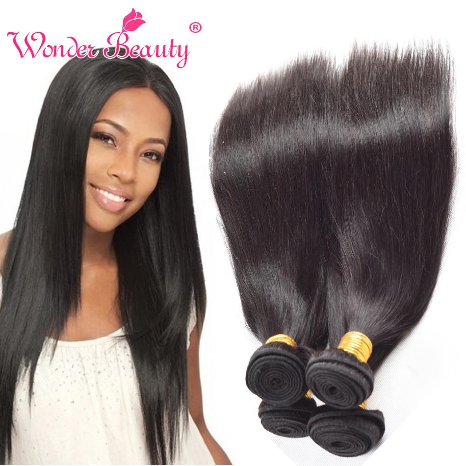 Sleek Malaysia Virgin Hair Straight 4 Bundles Deal Human Hair Weaves