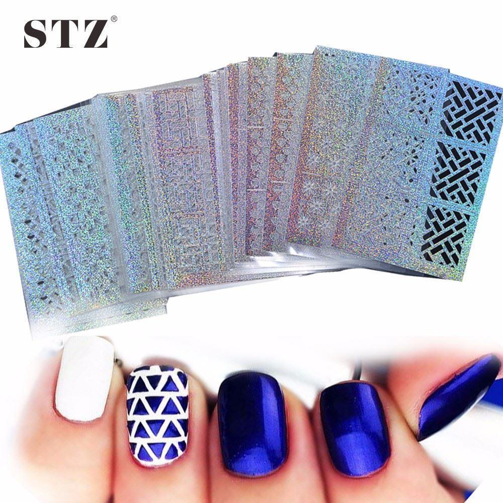 DIY Nail Hollow Irregular Stencils Stamp Nail Art Manicure Sticker