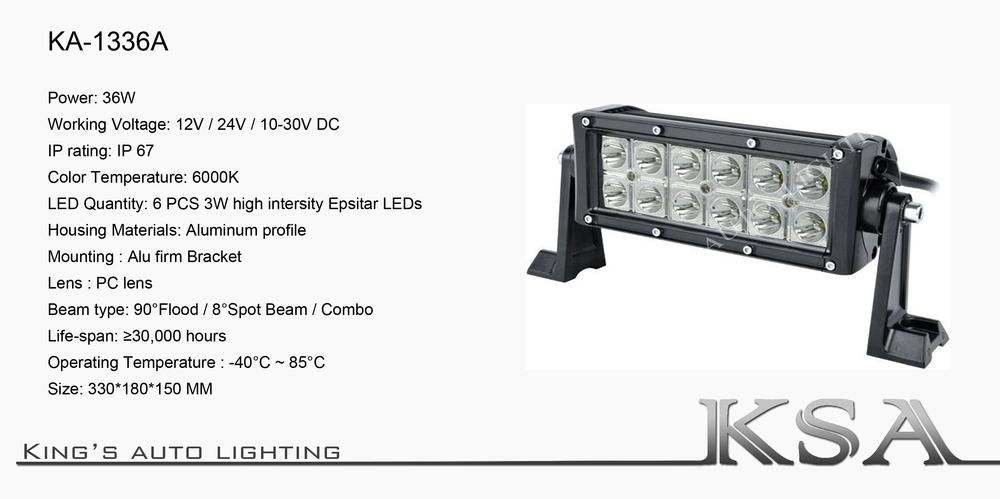 36w 75 led light bar 12v24v 36w led offroad light bar aloadofball Choice Image