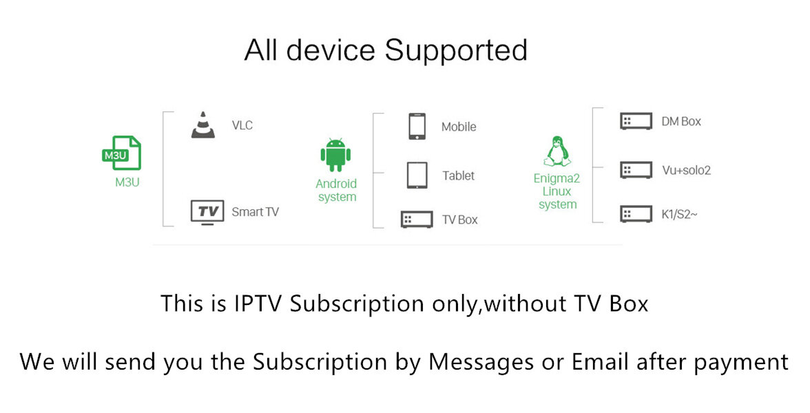 1 Year VigoTV IPTV subscription 4500+ channel 2500 VOD for French Arabic UK  Netherland Germany M3u Android Enigma2 Smart tv