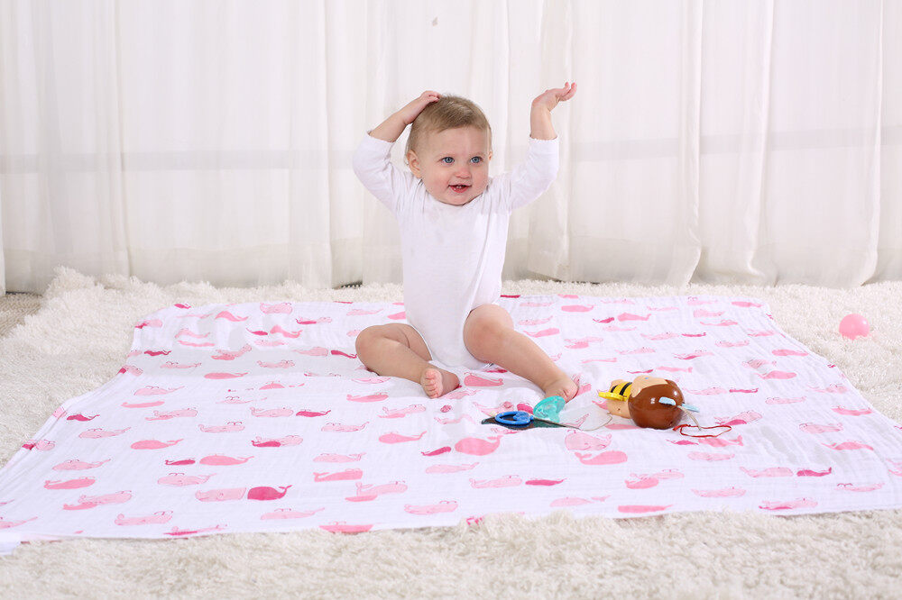 cotton muslin swaddle blanket functions