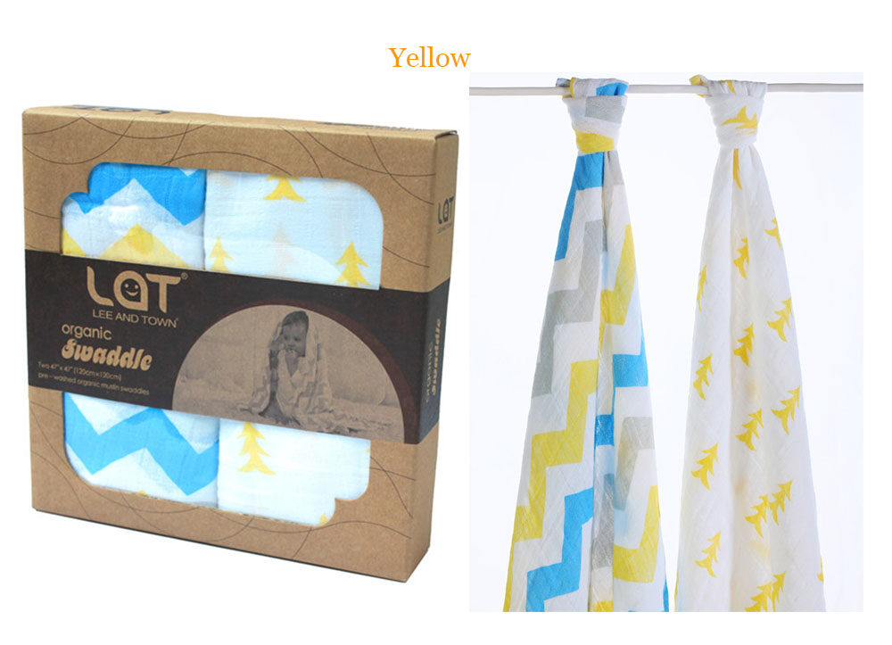 organic cotton muslin blanket yellow