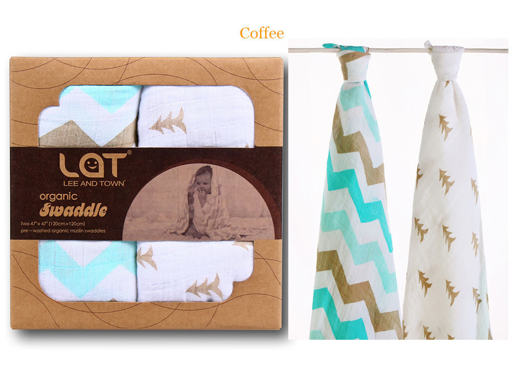 organic cotton swaddle blanket coffee
