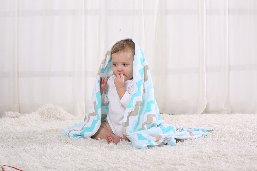 organic cotton muslin swaddle blanket application