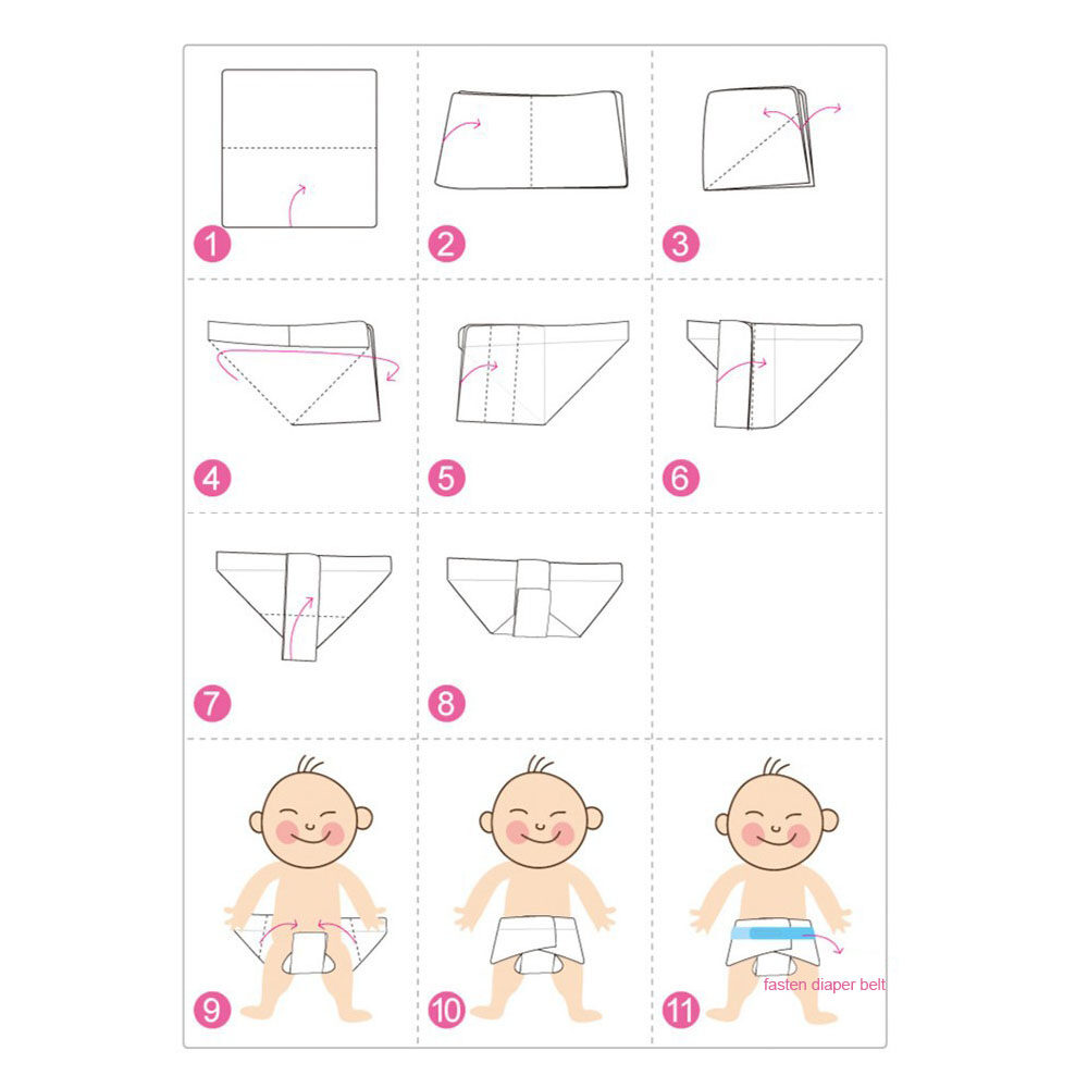 muslin diaper folding method