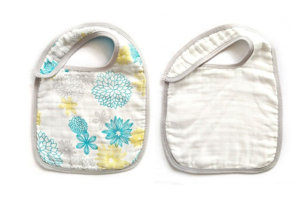 baby snap bibs Blue Flower