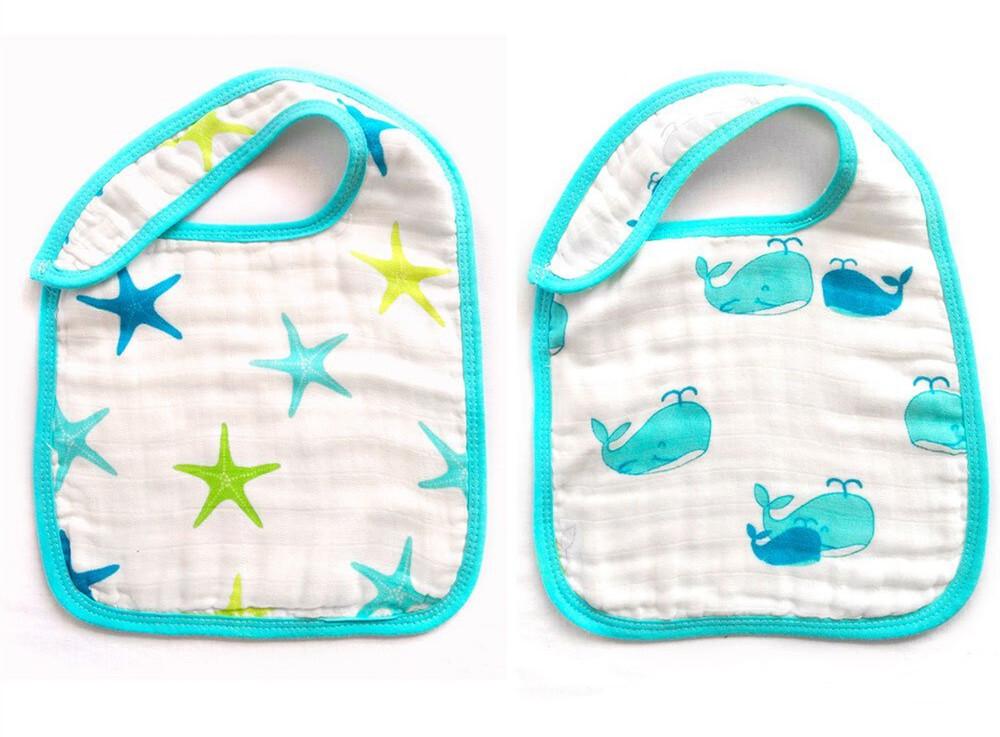 baby snap bibs Blue Ocean