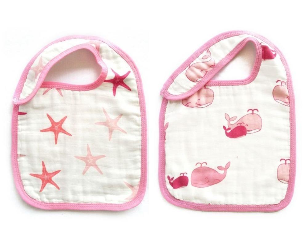 baby snap bibs Pink Ocean
