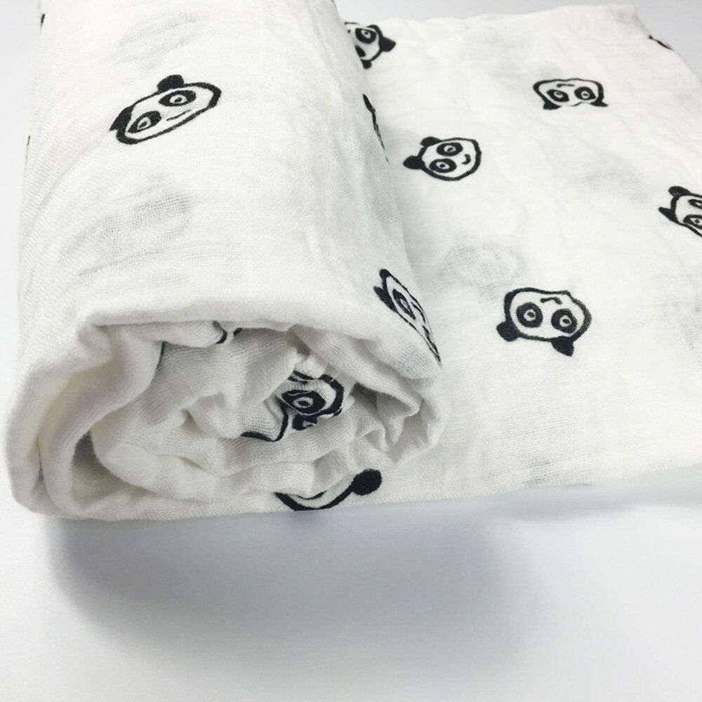 100% cotton muslin swaddle blanket 120 x 120 cm
