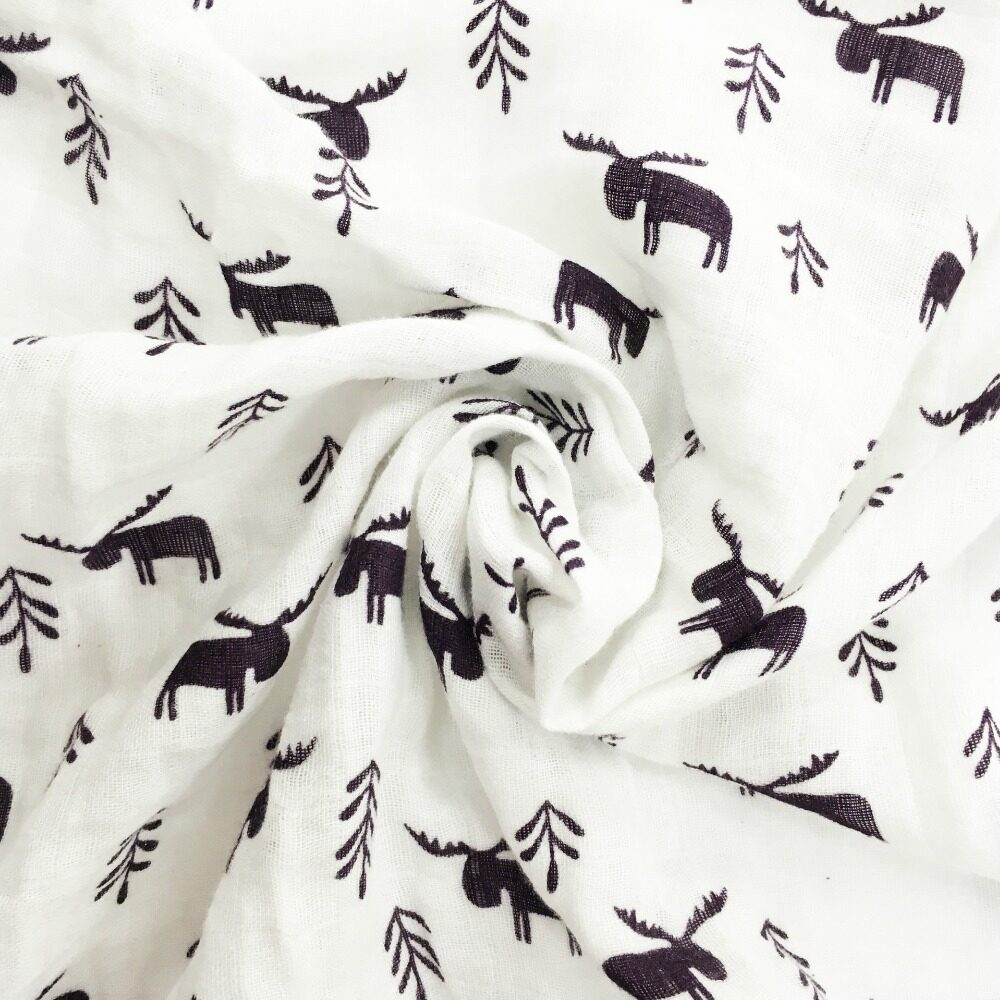 100% cotton muslin swaddle blanket for boy and girl