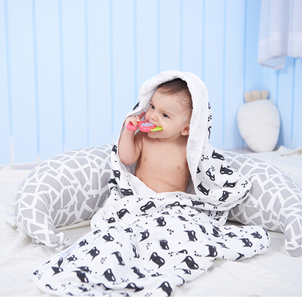 100% cotton muslin swaddle blanket cover