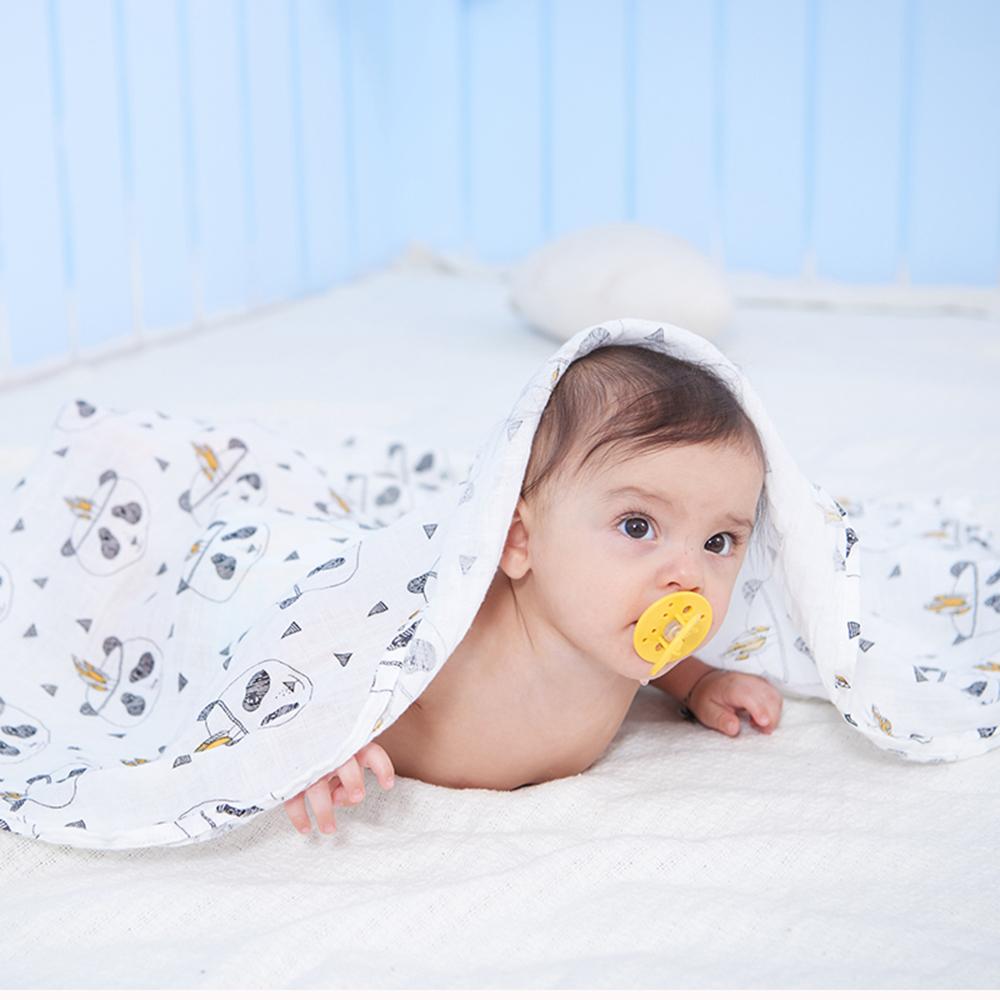 100% cotton muslin receiving blanket