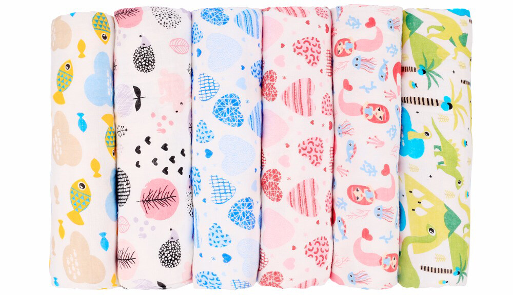 baby cotton muslin swaddle blanket