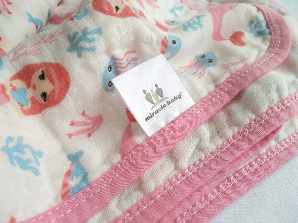 100% cotton muslin two layers swaddle blanket