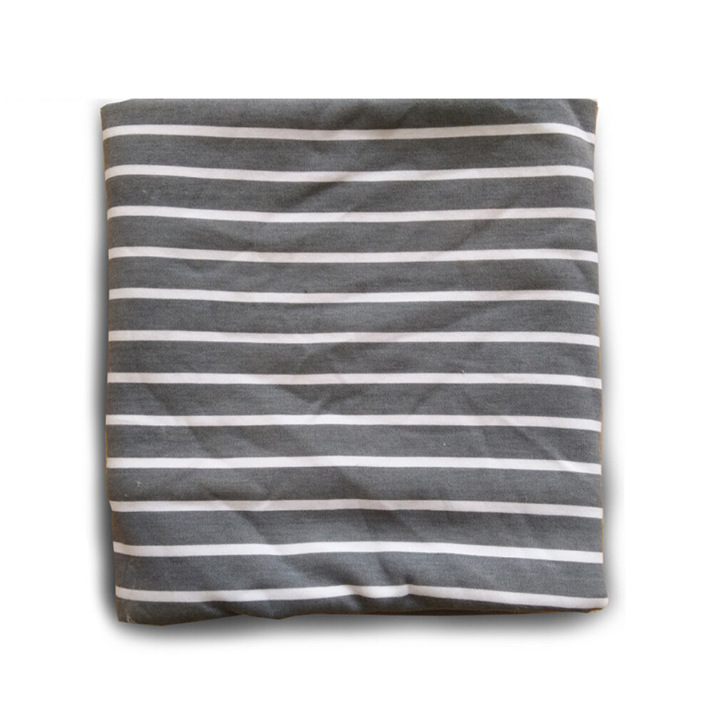 baby cotton jersey swaddle blanket grey