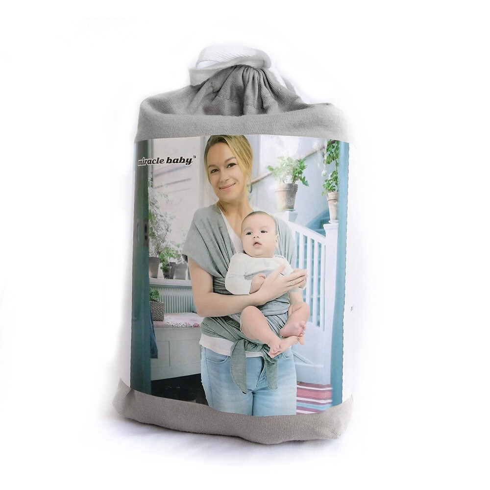 baby sling carrier wrap grey