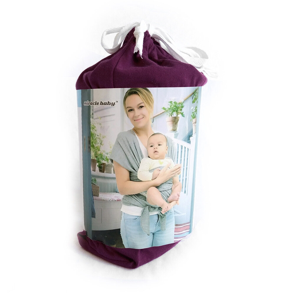 baby sling front carrier purple