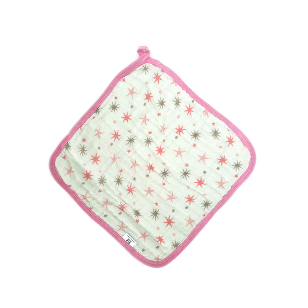 baby face towel Pink Star