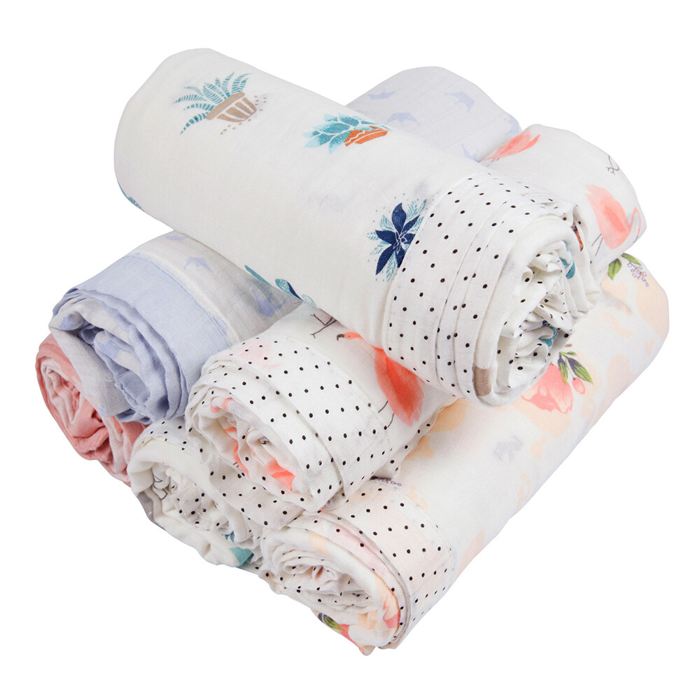 2 layers and 4 layers bamboo cotton swaddle blanket size