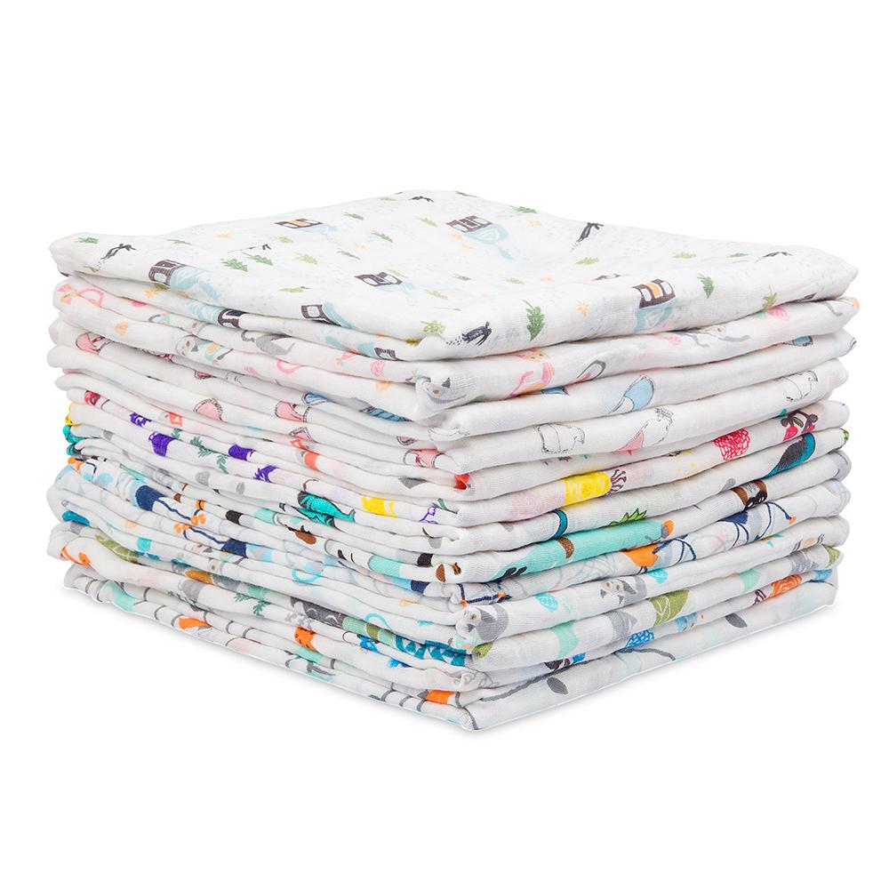 cotton muslin swaddle blanket 44