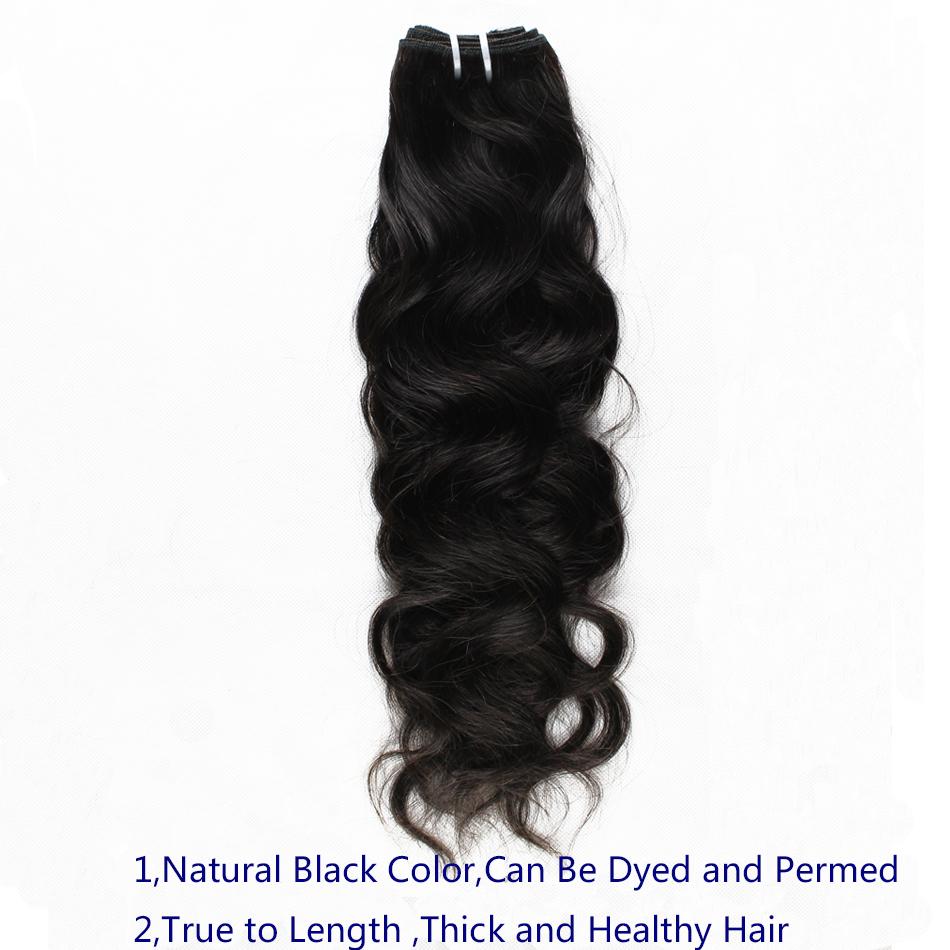 Brazilian Virgin Human Hair Weaves Natural Wave Hair Weaves