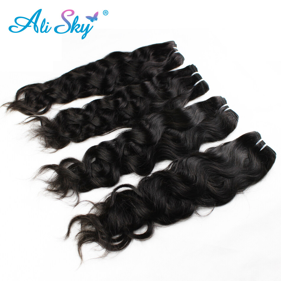 Ali sky hair products 7a unprocessed peruvian virgin hair ali sky hair products 7a unprocessed peruvian virgin hair extensions natural wave 4 bundles no tangle pmusecretfo Images