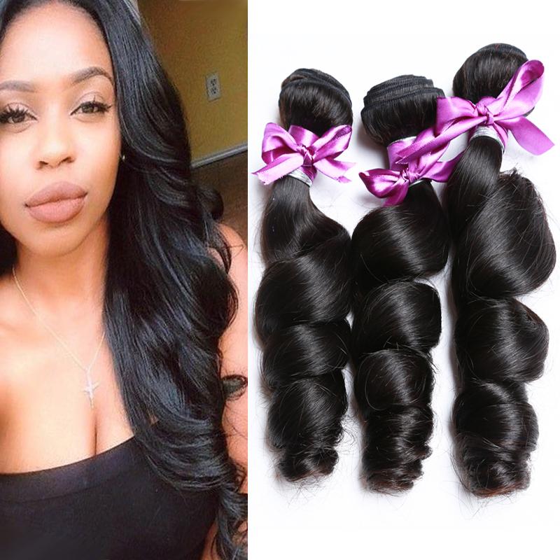 Cheap Malaysian Virgin Loose Deep Hair Weft 3 Bundles Human Hair