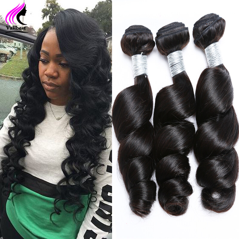 Indian Virgin Hair Weft Loose Deep Wave Weave Human Hair