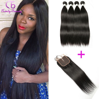 Hair bundles with lace closure trendy beauty malaysian straight virgin hair with lace closure 100 unprocessed human hair weave bundles pmusecretfo Gallery