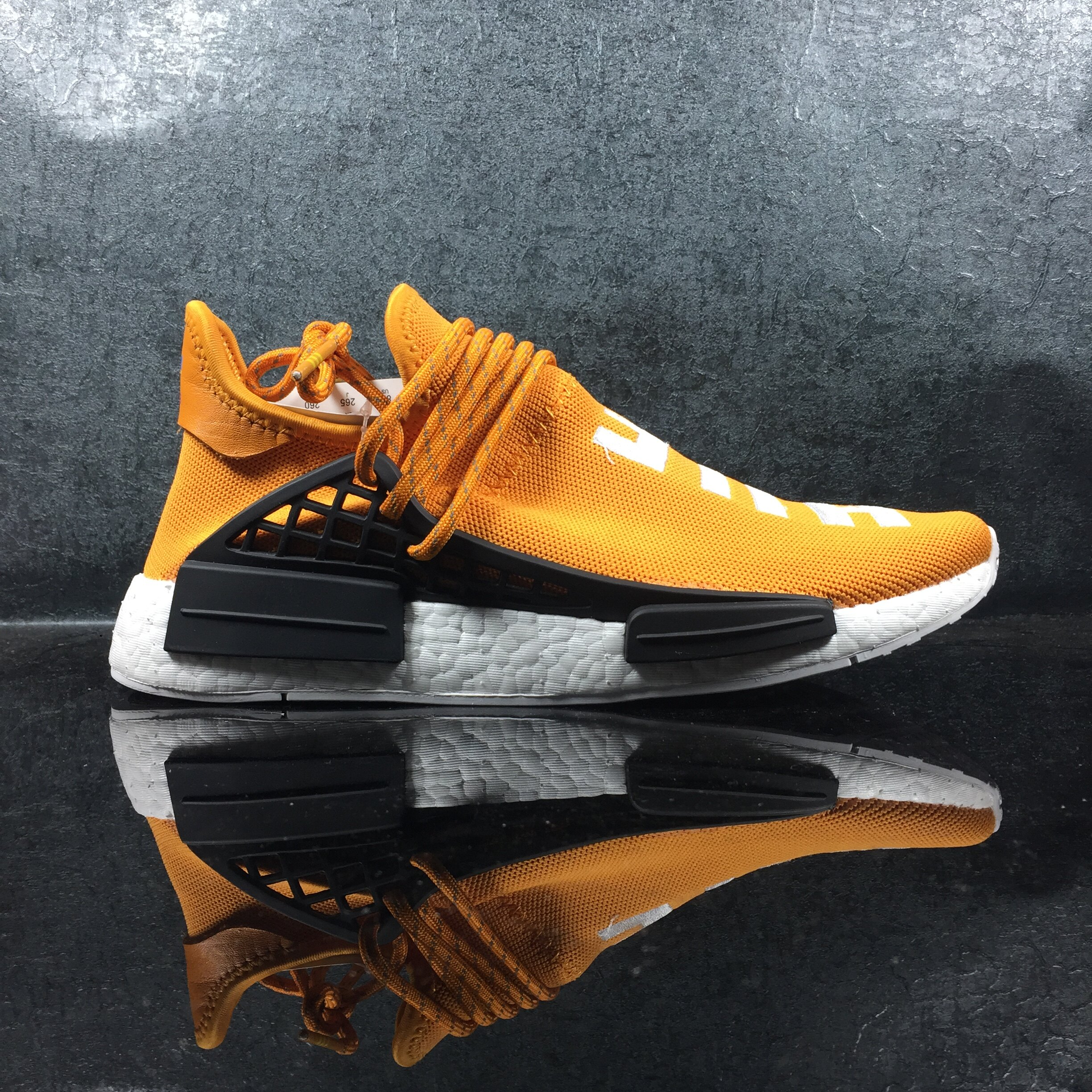 best authentic 77740 42267 ADIDAS X PHARRELL NMD HUMAN RACE TANGERINE ORANGE PW BB3070 WITH ORIGINAL  BOOST