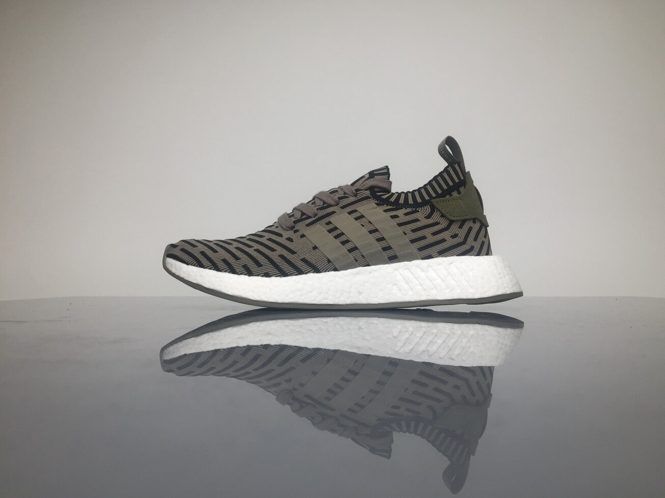 big sale 1dad9 d5a31 Khaki adidas NMD R2 OG