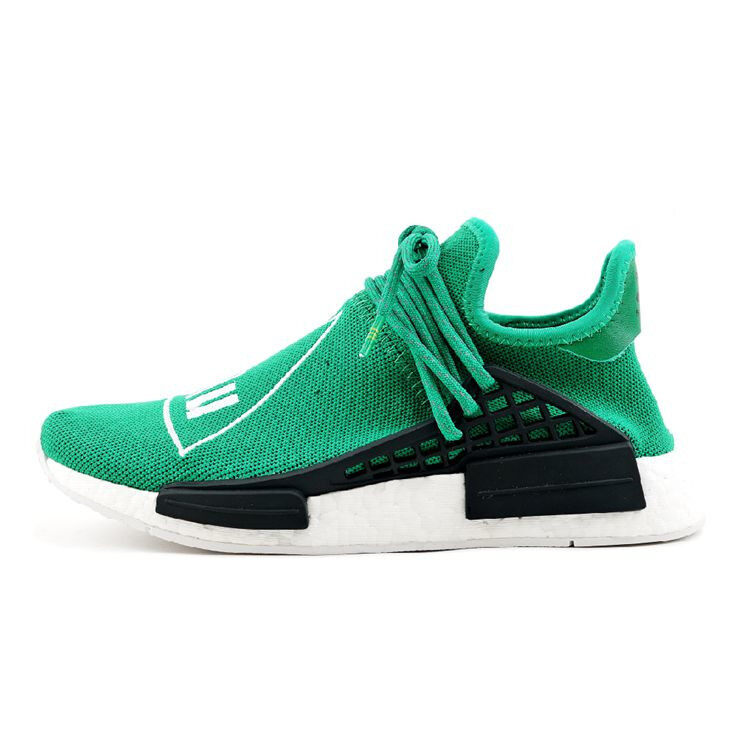108e86c99bb42 PK ADIDAS X PHARRELL NMD HUMAN RACE GREEN BB0620 WITH ORIGINAL BOOST