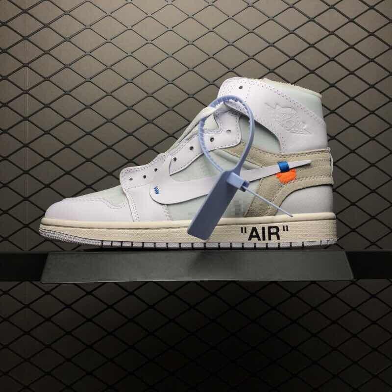 "brand new 04c15 fdfbd AJ OFF-WHITE x Air Jordan 1 High OG 10X""Triple White"" AQ0818-100"