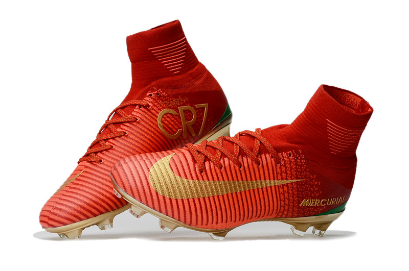 promo code 8d5d9 c9fff Nike Mercurial Superfly V CR7 Red Gold FG soccer shoes C Luo exclusive  version Champions US Size 3-11, EU Size 35-45
