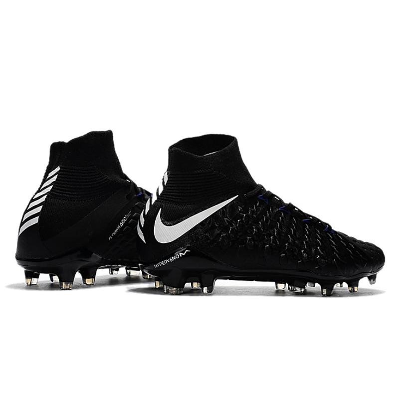 c41bec741e3 ... All Black White Soccer Cleats Boots FG soccer shoes US Size 6.5  NIke  Hypervenom ...
