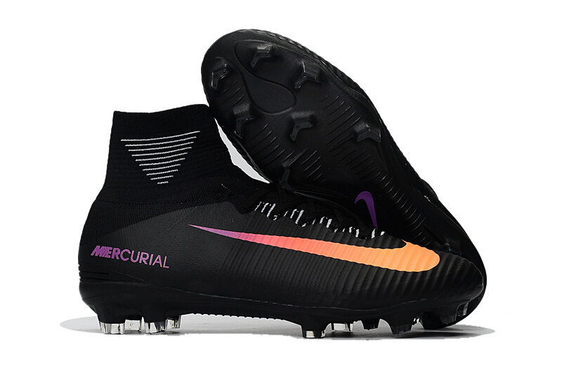 sports shoes a9872 77ec1 ... Superfly V Black Orange Soccer Cleats Boots FG soccer shoes US Size  6.5-  NIKE Mercurial ...