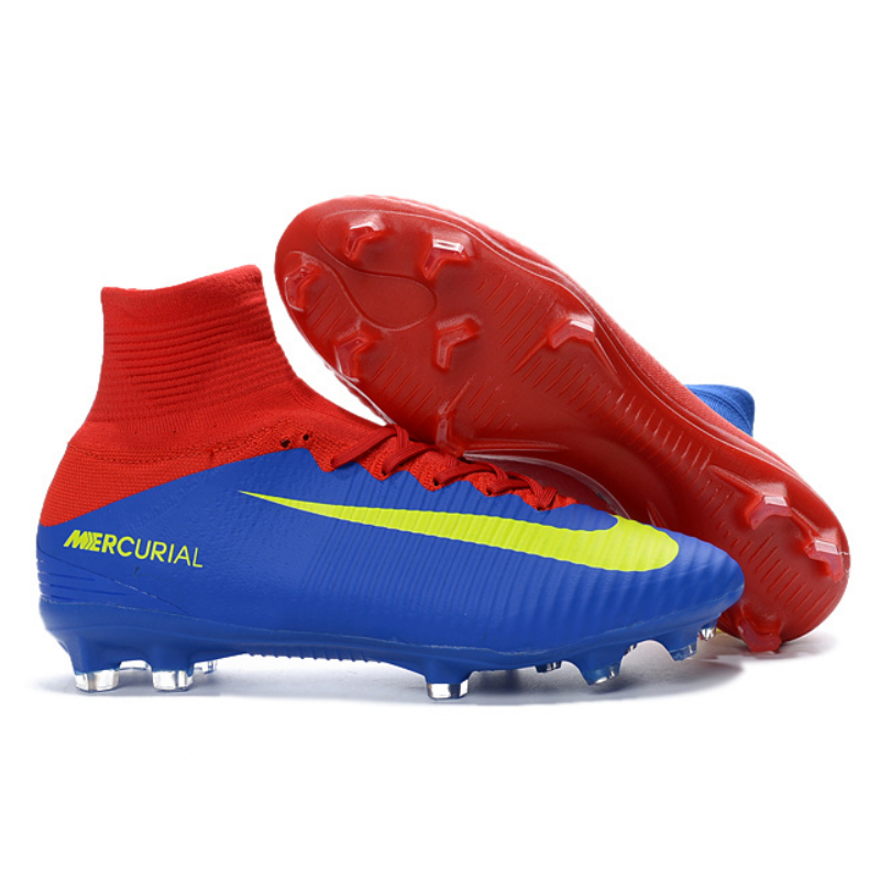 1c27d9506 ... Superfly V Red and Blue Soccer Cleats Boots FG soccer shoes US Size  6.5; NIKE Mercurial ...