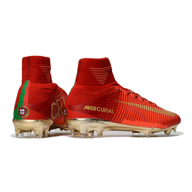 89ed6fa95 CR7 Mercurial Superfly FG Outdoor Soccer Cleats Boots Kids Size