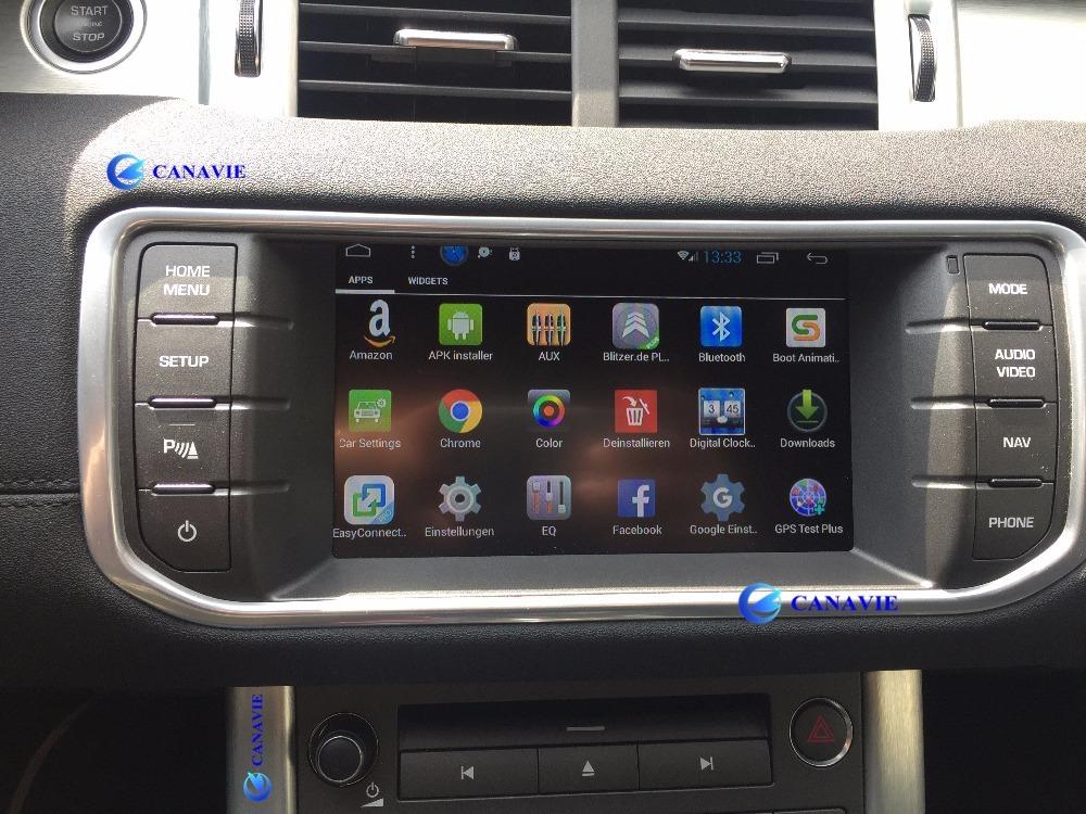Android Autoradio Car Stereo Audio Head Unit Evoque