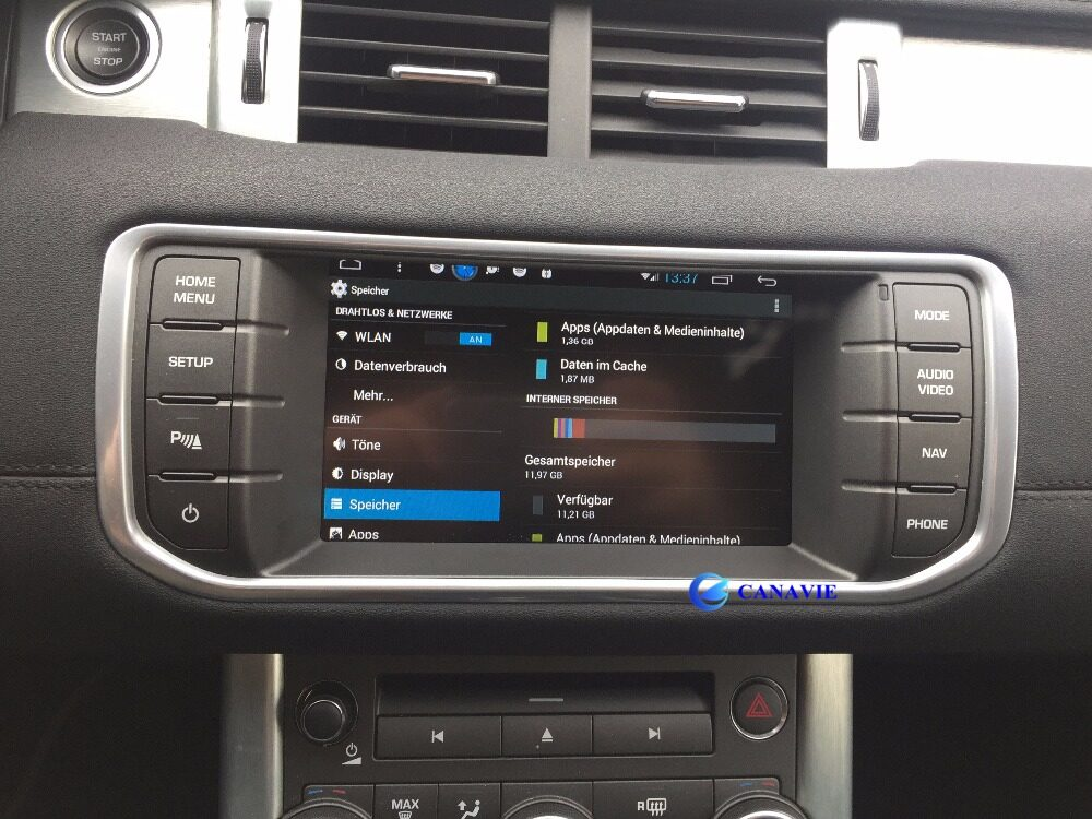 Android Autoradio Car Stereo Audio Head Unit Evoque ...