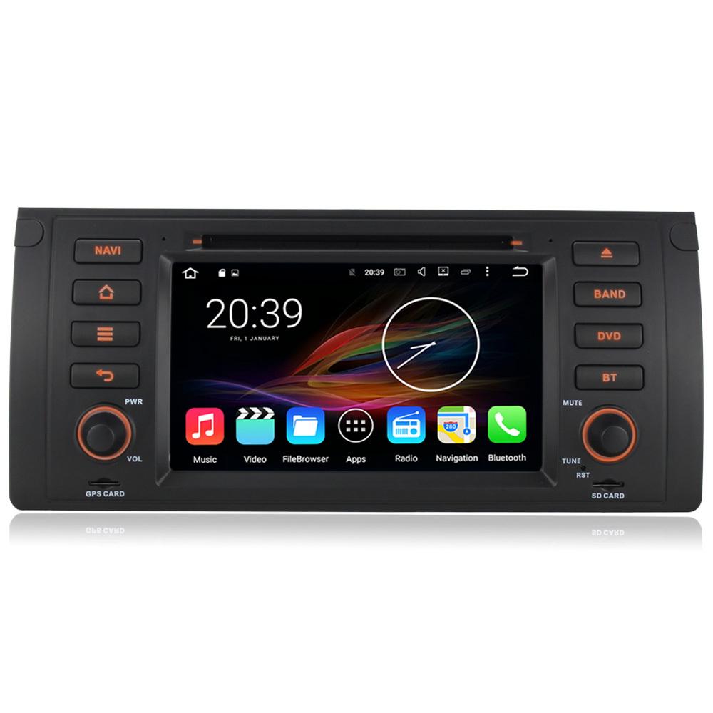 7 android autoradio car multimedia stereo gps navigation dvd radio audio head unit bmw 5 series. Black Bedroom Furniture Sets. Home Design Ideas